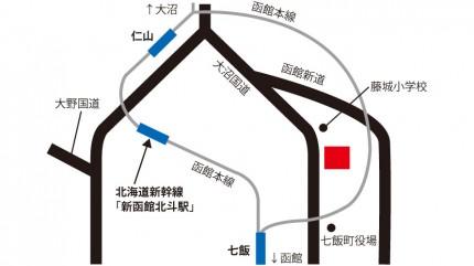 菊池食品工業株式会社函館工場の地図